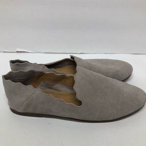 Lucky Brand Beige Suede Slip On Loafer Shoes 8.5